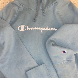Teal champion sweatshirt turtleneck